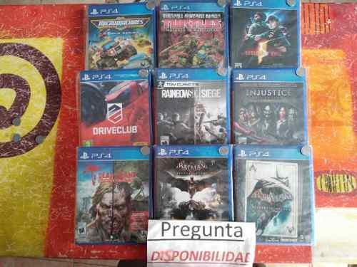 Lote de juegos ps4 precio x cada uno