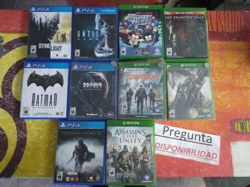 Lote juegos xbox one y ps4