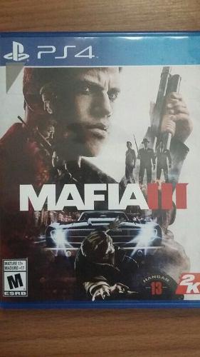 Mafia 3 ps4 juego fisico + codigo de preorden