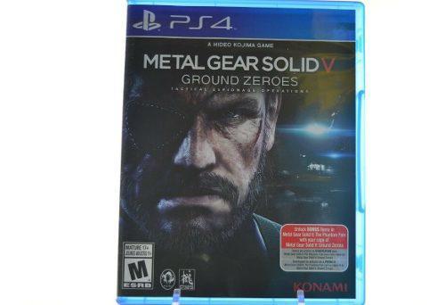 Metal gear solid v ground zeroes para ps4 juego fisico