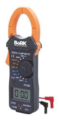 Multímetro digital con gancho con amperímetro bork 9602