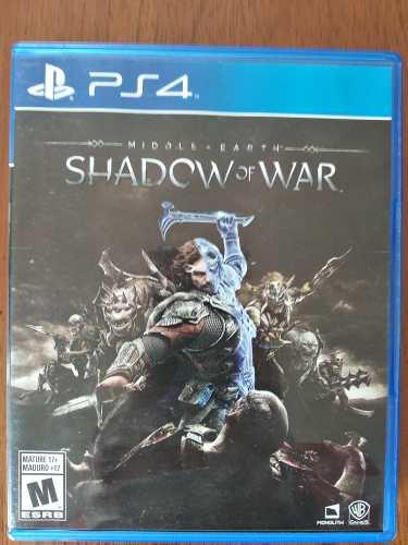 Shadow of war ps4 juego físico entrega gratis