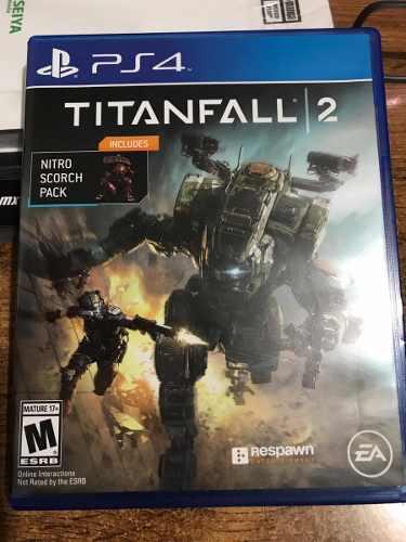 Titanfall 2 ps4 playstation juego fisico en mano