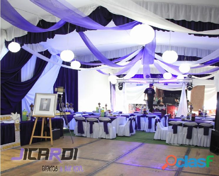 Carpas elegantes , banquetes, letras gigantes en neza