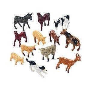12 Granja De Animales De Juguete Figuras Miniatura