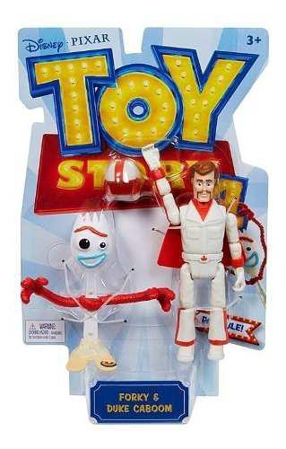 Figuras de juguete toy story4 forky y duke caboom 2 muñecos