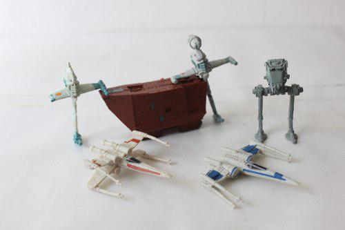 Lote de seis naves miniatura star wars lfl
