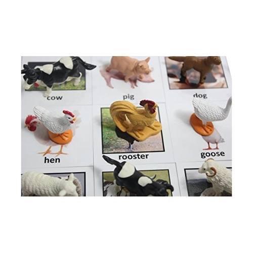 Montessori partido animal - animal de granja miniatura figur
