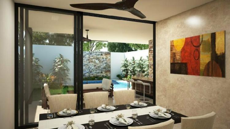 Casa en privada silvano cholul