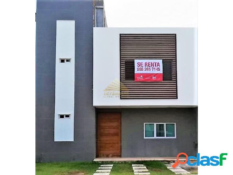 Casa renta aqua, cancún. ¡oportunidad!!