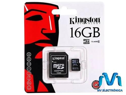 16gb microsdhc kingston micro sd clase 4 original mv
