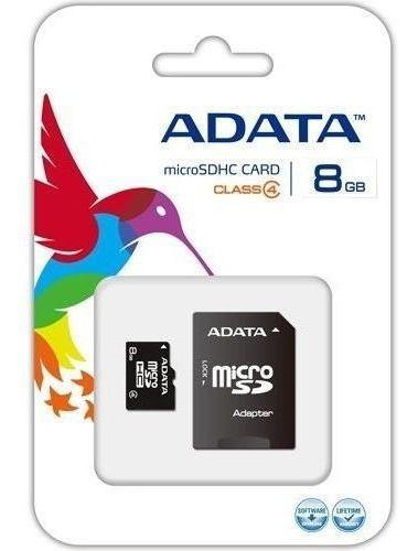 Adata memoria micro sd 8gb clase 4 con adaptador