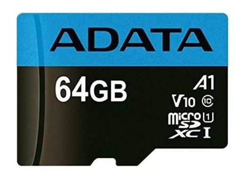 Adata memoria micro sd hc 64gb uhs-i a1 celulares alta