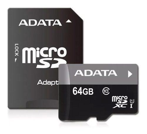Adata memoria micro sd hc 64gb uhs-i clase 10 celulares alta