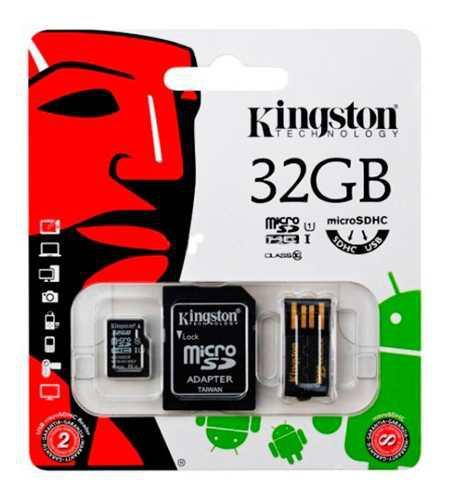 Kingston multi kit adaptador micro sd 32gb mbly10g2/32gb