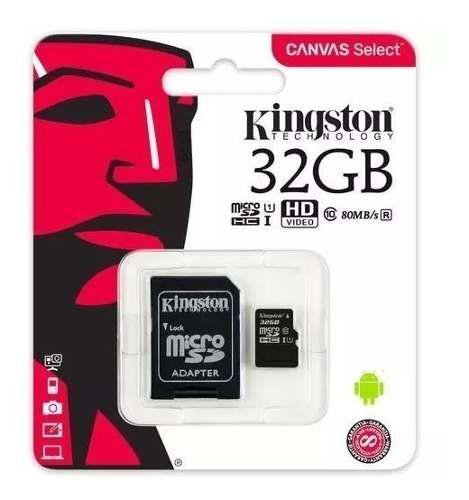 Lote 5 memorias micro sd 32gb kingston c10 80mb/s
