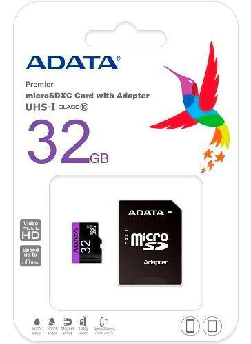 Lote de 10 tarjetas de memorias micro sdhc de 32gb adata