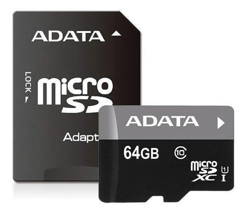 Memoria adata micro sd sdxc 64gb clase 10 uhs-i adaptado sd