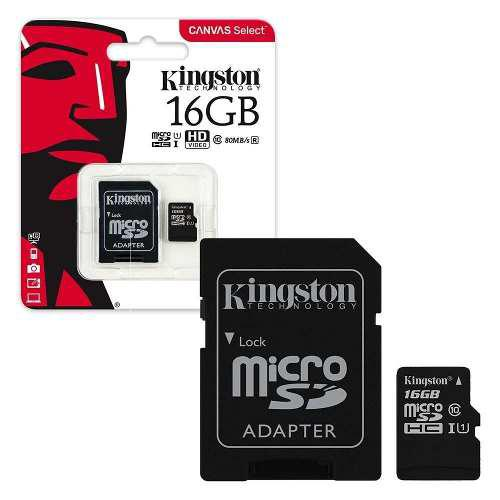 Memoria kingston micro sdhc 16gb clase 10 con envio gratis