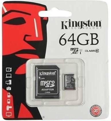 Memoria kingston original micro sd 64gb clase 10 envio grati