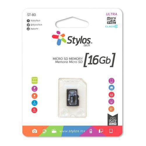 Memoria micro sd 16gb clase 10 celular tablet nueva stylos *