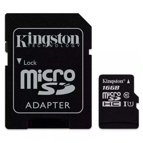 Memoria micro sd 16gb clase 10 kingston nueva