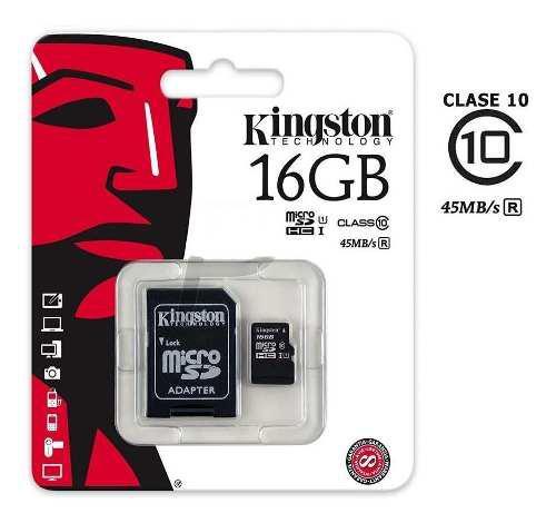 Memoria micro sd 16gb clase 10 kingston original