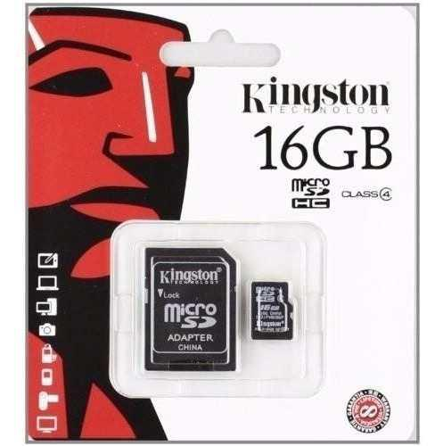 Memoria micro sd 16gb clase 4 kingston cel camaras facturada