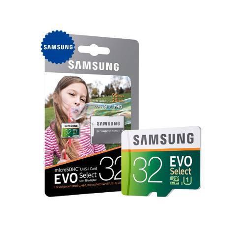 Memoria micro sd 32gb samsung para camara fotografica reflex