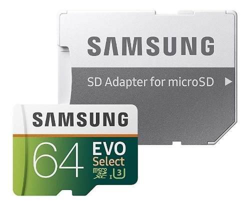 Memoria micro sd 64gb samsung evo select clase 10 4k microsd