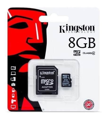 Memoria micro sd 8 gb sd hc kingston celulares en blister