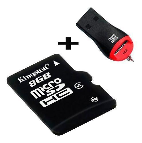 Memoria micro sd 8gb + adaptador usb celulares camaras