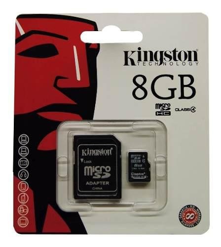 Memoria micro sd 8gb clase 4 kingston original
