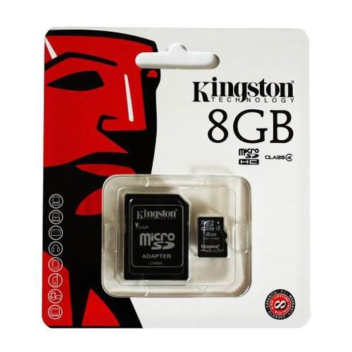 Memoria micro sd 8gb kingston para celulares camaras samsung