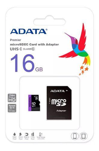 Memoria micro sd adata 16gb uhs-i clase 10