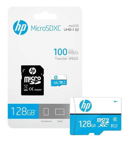 Memoria micro sd clase 10 hp 128 gb celulares camaras psp