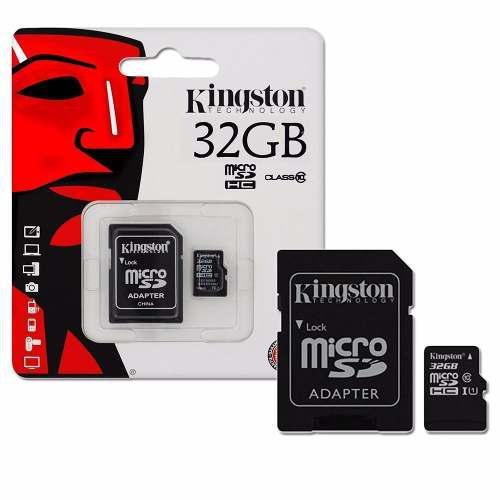 Memoria micro sd hc 32gb kingston cl 10 c/a sdc10g2/32gb