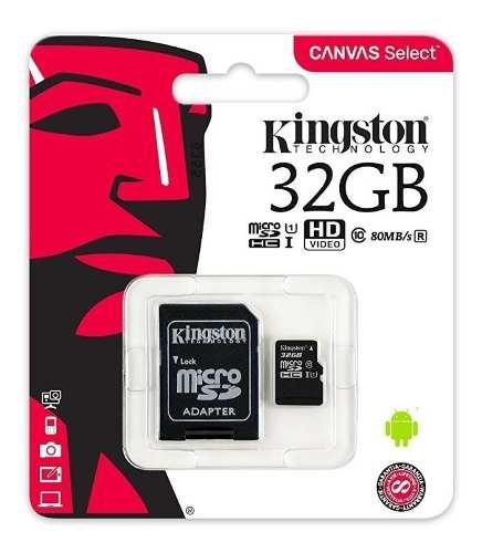 Memoria micro sd hc 32gb kingston clase 10 ultra mobile