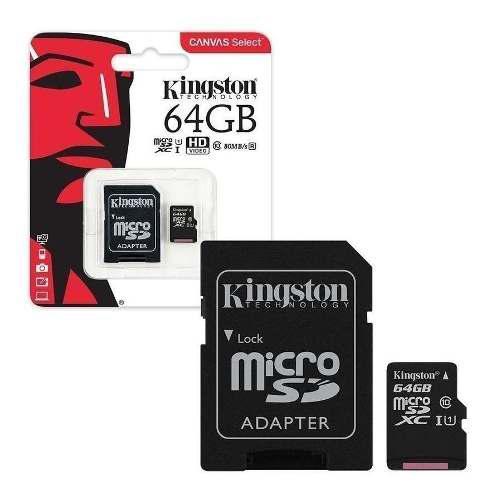 Memoria micro sd hc 64gb uhs-i clase 10 celulares tablets