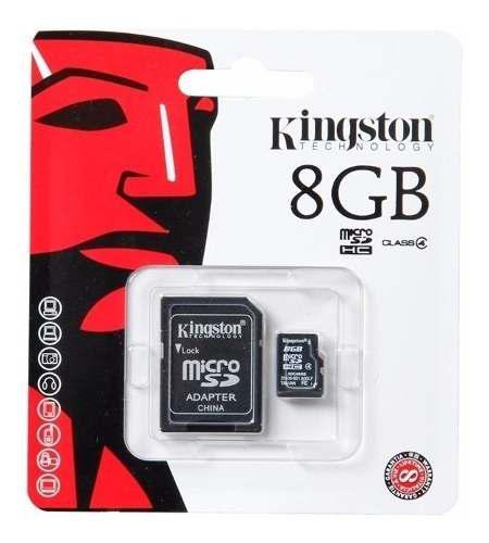 Memoria micro sd hc 8gb clase 4 kingston garantia sellada