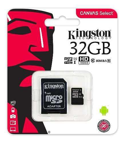 Memoria micro sd kingston 32gb ush-i clase 10 ultra rapida