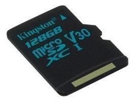 Memoria micro sd kingston canvas go 128gb v30 4k 90mb/s u3