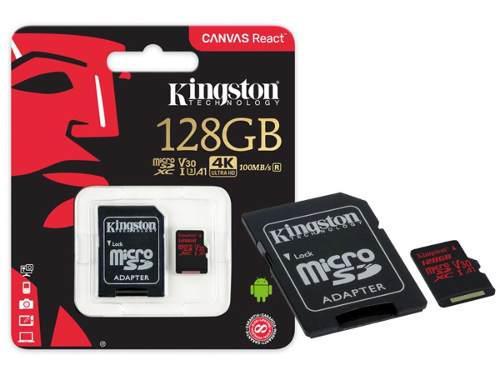 Memoria micro sd kingston canvas react 128gb a1
