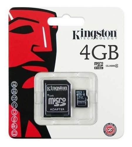 Memoria micro sd kingston de 4 gb c10 (precio de 100 piezas)
