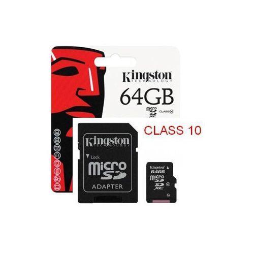Memoria micro sd xc kingston 64gb uhs-i 80 mb/s clase 10