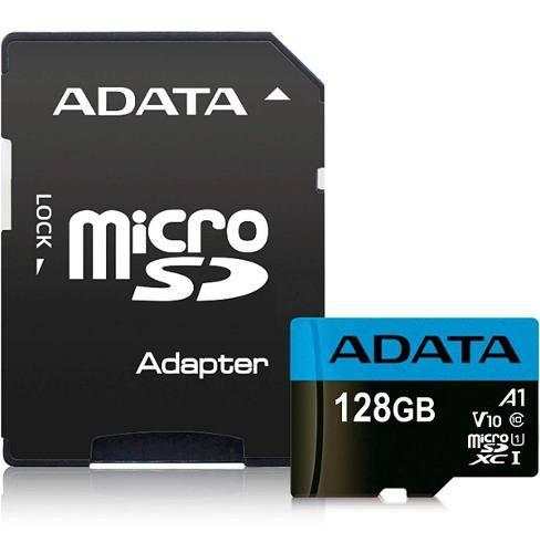 Memoria micro sdxc 128gb adata clase 10 video full hd v10