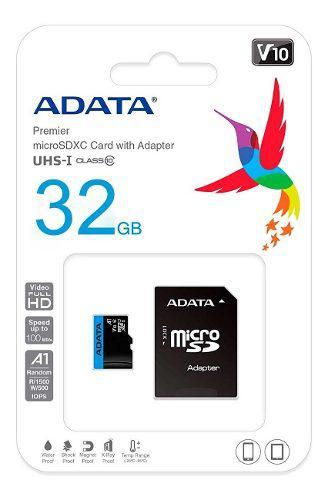 Memoria Micro Sdxc 32gb Adata Clase 10 Video Full Hd V10