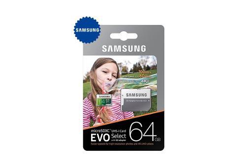 Memoria microsd 64gb samsung clase 10 para celulares bq