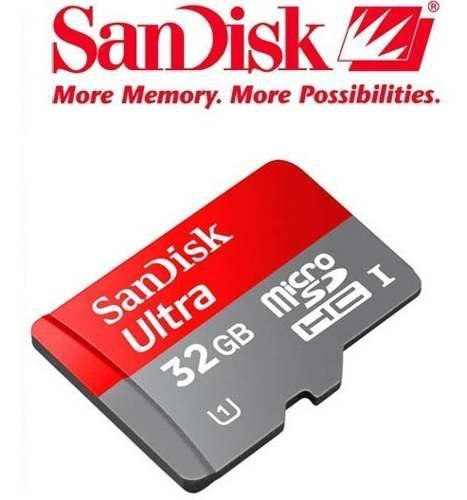 Memoria microsd sandisk ultra 32gb u1 30mb/s gopro 4k
