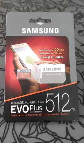 Memoria samsung micro sdxc 512gb evo plus 4k uhd original